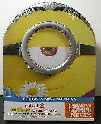 Minions (Blu-ray/DVD, 2015, 2-Disc Set, ) free shipping