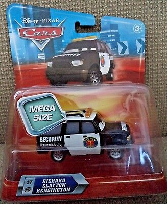 DISNEY CARS RICHARD CLAYTON KENSINGTON  #17 SECURITY MEGA SIZE *NEW*