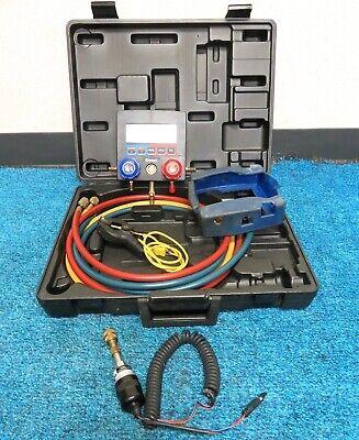 Mastercool 99661 Digital Manifold Kit W 98061-002 Vaccum Gauge And Case