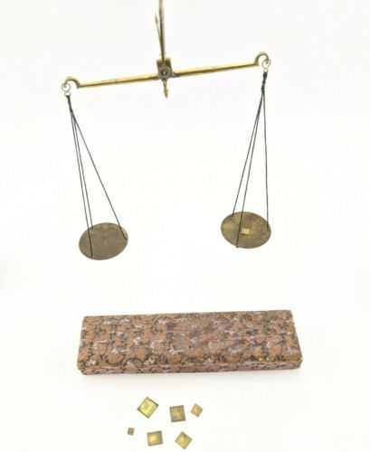 Vintage Portable Apothecary Scale with Grain Weights