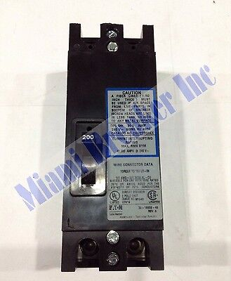 Chh2200h4x Cutler Hammer Circuit Breaker 2 Pole 200 Amp 240v New In Box