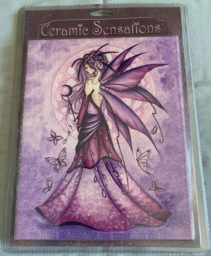 "Ceramic Sensations Tile #88308 ""Lavender Moon"" Jessica Galbreth Fairy NEW/SEALED"