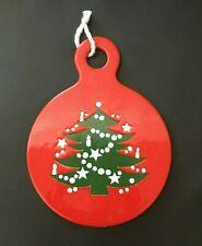 "WAECHTERSBACH Christmas Tree 8"" TRIVET Round Plaque Cheese ..."