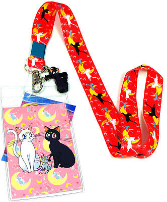 Sailor Moon Official Genuine Lanyard ID Holder with Charm *NEW*