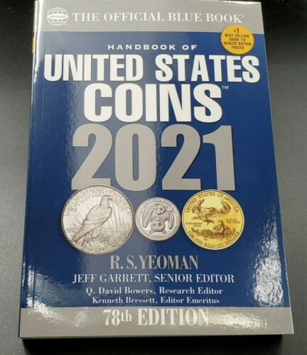 NEW Official Blue Book A Guide Book of United States Coins 2021 78th Paperback