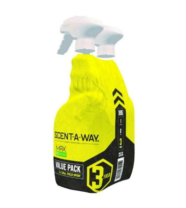 Scent A Way MAX FRESH 24oz (2 Pack) Hunter Specialties Field Spray Odor Control