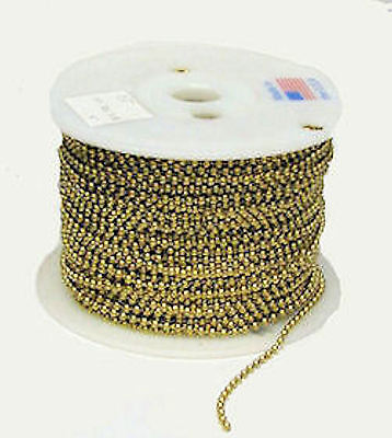 Lamp parts: 250' roll brass beaded ball chain TR-710 250' Roll Beaded Chain