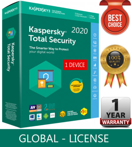 KASPERSKY TOTAL Security 2020 / 1 Device / 1 Year / GLOBAL-KEY /Download 7.54$