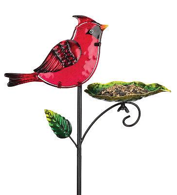 Bird Feeder Stake - Cardinal  - REGAL ART & GIFT (Cardinal Bird Feeder Stake)
