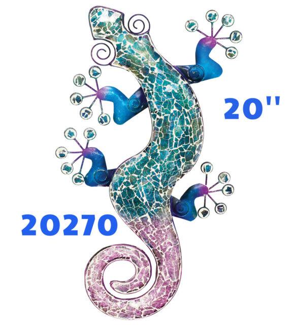 Mosaic Gecko Wall Decor - Blue 20\