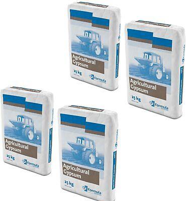 **4 bags of Agricultural Gypsum Soil Enhancer - Enough For Medium Sized Garden**