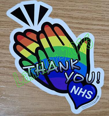 Thank You NHS ! Clap Rainbow Car Van Window Sticker Decal Bumper