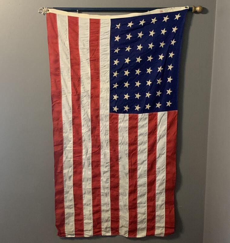 48 STAR AMERICAN FLAG + Pole DETTRAS STANTEST BUNTING-stitch stripes 3