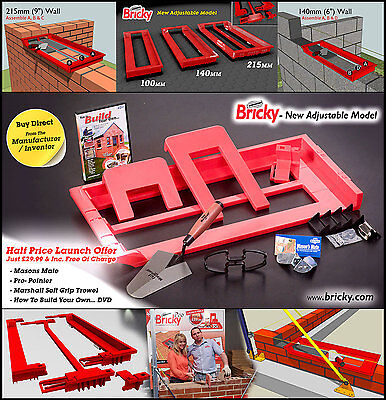 Bricky - Wall Building Tool (New Adjustable Model)
