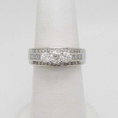 Zales 1.25CT Diamond Solitaire Anniversary Wedding Bridal Ring 14K White Gold for sale  Shipping to Canada