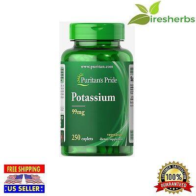 Potassium 99 mg Vegetarian Caplets Maintain Fluid Balance Supplement 250 (Fluid Supplement)