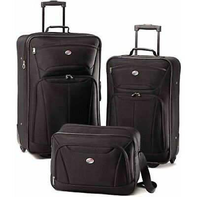 3 PC Luggage Set Travel Bag Baggage Tote Lightweight Suitcase American Tourister American Tourister Lightweight Suitcase