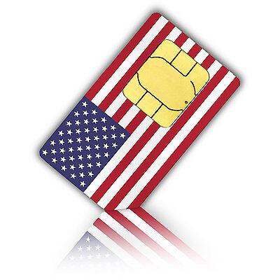 USA SIM Karte mit int. Telefonie-Flat + 6 GB Datenvolumen (30 Tage)