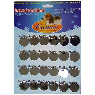 Pendant Dog Tag 24 Pieces Round 25mm Id-2012s For Engraving Machine Gravograph