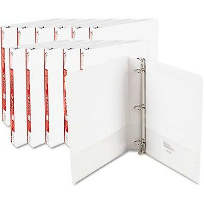 12 Pack Economy View 3 Ring Binders Round Ring 1 inch White Office Binder