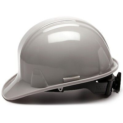 Pyramex Cap Style Hard Hat With 4 Point Ratchet Suspension Gray