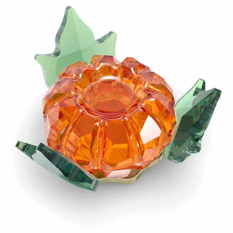 Swarovski Crystal Garden Tales Pumpkin Magnet Decoration, Large, Orange, 5594492