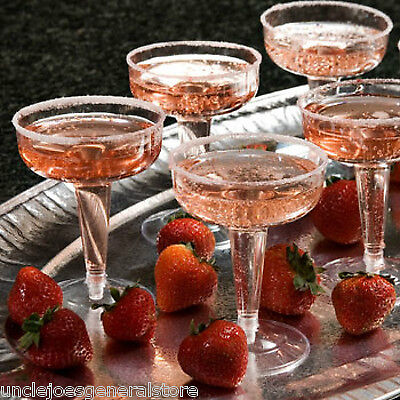 Plastic Champagne Glasses (CHAMPAGNE GLASSES Party Ware Holiday Parties, 4 oz plastic clear)