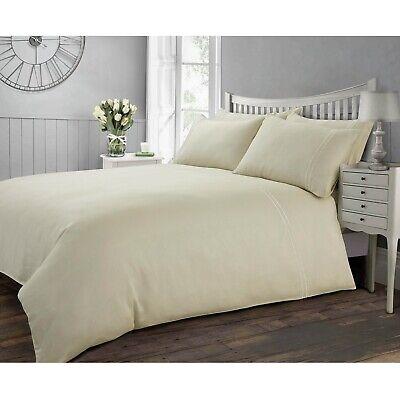 Hotel Collection 100% Cotton Duvet Cover 300TC Single Quilt Bedding Set Cream - Fairmont Bed Set