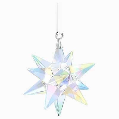 Swarovski Crystal Christmas STAR Ornament, Aurora Borealis -5283480 New Swarovski Christmas Star