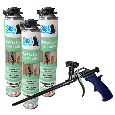 Seal Spray Closed Cell Insulating Foam Can Kit Wgun Foam Applicator 75 Bf