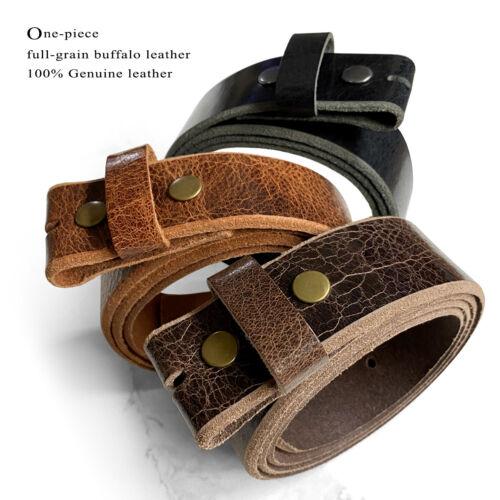 "Vintage Genuine Buffalo Casual Leather Belt Strap 1-1/2"" Wide"