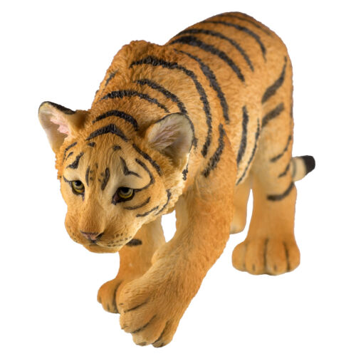 "Tiger Cub Figurine 7.5"" Long Highly Detailed Polystone Statue New In Box!"