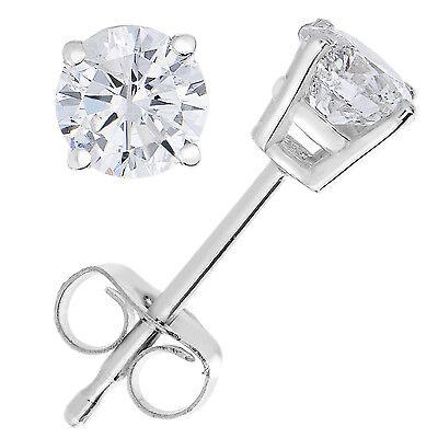 1/5 CT Diamond Stud Earrings 14k White Gold