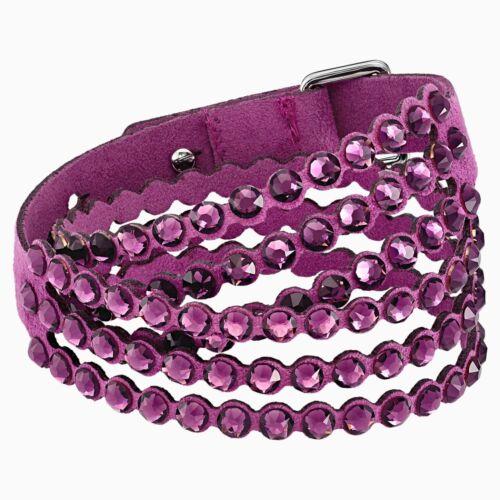 Swarovski Purple Slake Wrap Power Collection Bracelet 5511699 NIB