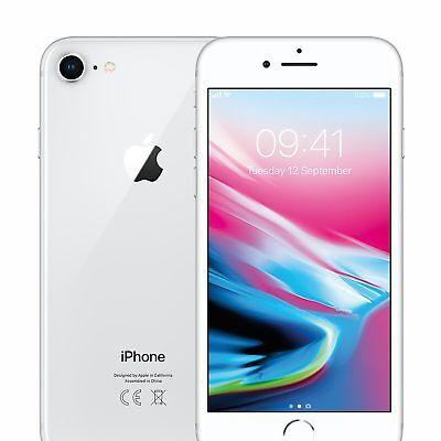 "Apple iPhone 8 MQ6H2B/A 64GB 4.7"" 12MP SIM-Free Unlocked Smartphone in Silver"