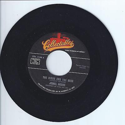 JEWEL AKENS The Bird and the Bees VG+ 45 RPM REISSUE