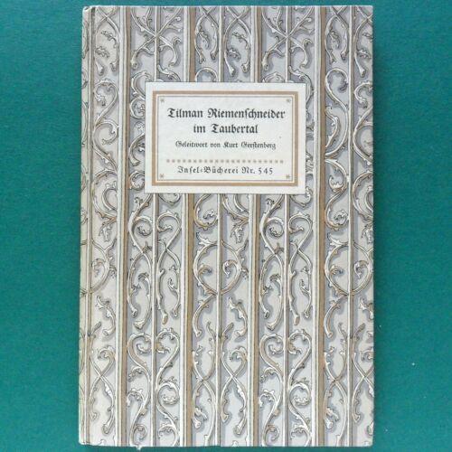 Insel Buch Nr. 545 von 1939 Tilmann Riemenschneider Im Taubertal