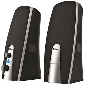 NEW-TRUST-2-0-MILA-10W-POWERED-PC-COMPUTER-SPEAKER-SET