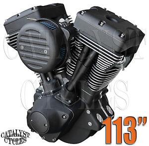 113 Ultima Engine Black Out El Bruto Complete Motor For Harley Evo Engine Ebay