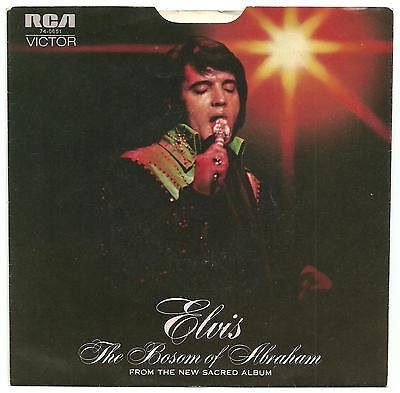 Elvis Presley - Bosom of Abraham RARE PS single from the USA.