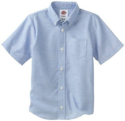 Boys Blue Oxford Shirt (Dickies Boys Blue Oxford Shirt Button Down Short Sleeves  Sizes S to XL  )