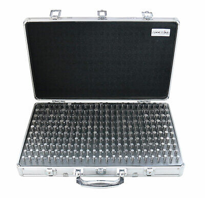 250 Pc 0.251-0.500 Steel Plug Pin Gage Set Minus With Aluminum Case M2-a