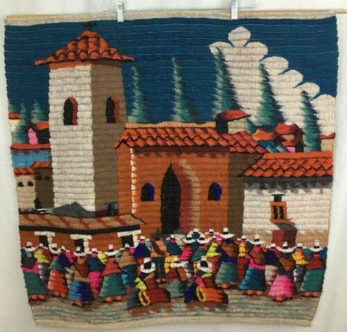 Vintage Mexican Unique Art Boho South West Style Native Handmade Wall Tapestry