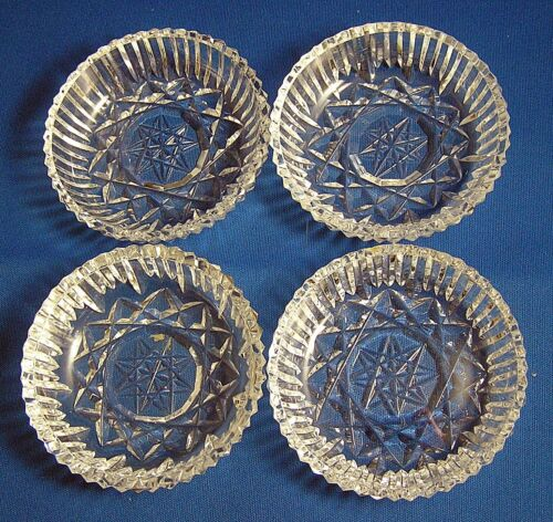"""4~Waterford Crystal """"STAR OF DAVID""""  Coaster 5"""" EXC. 1 of 2"""