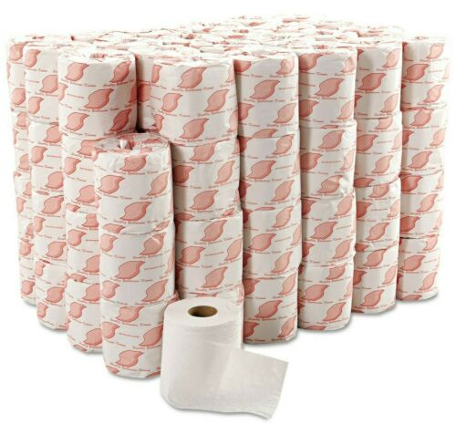 96 ROLLS Soft Toilet Paper 2-Ply 500 Sheets GEN SEPTIC SAFE NO CLOG White Sturdy