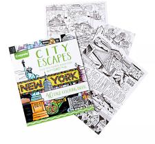 Crayola 40pg City Escapes Coloring Book | eBay