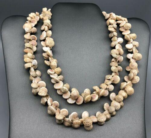 Vintage Natural Sea Shell Beaded Bohemian Necklace Beach Wedding Luau Party Lei