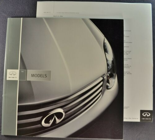 2004 Infiniti Brochure Q45 M45 i35 Sedan G35 Coupe FX QX56 Excellent Original 04