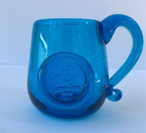 Colonial Jamestown Reproduction Blown Cobalt Blue Mug