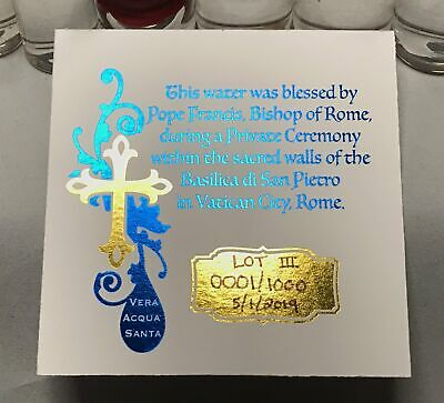 Holy Water Christmas Ornament 3 Holy Water Vials Hand Made Limited To 100 - $53.73